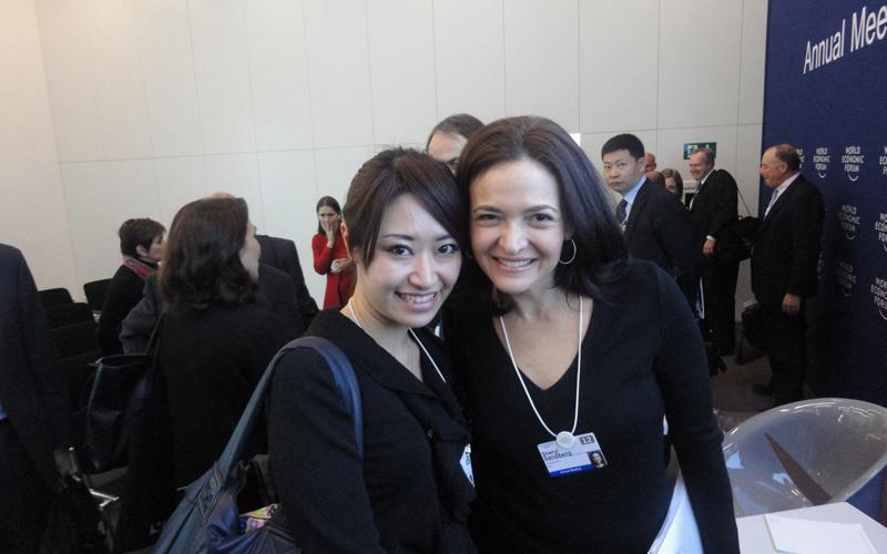 ダボス会議では世界のトップリーダーとの出会いがあった (写真提供 米良はるか)