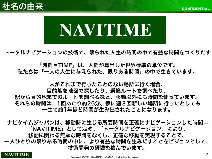 Slide 2 of NAVITIME